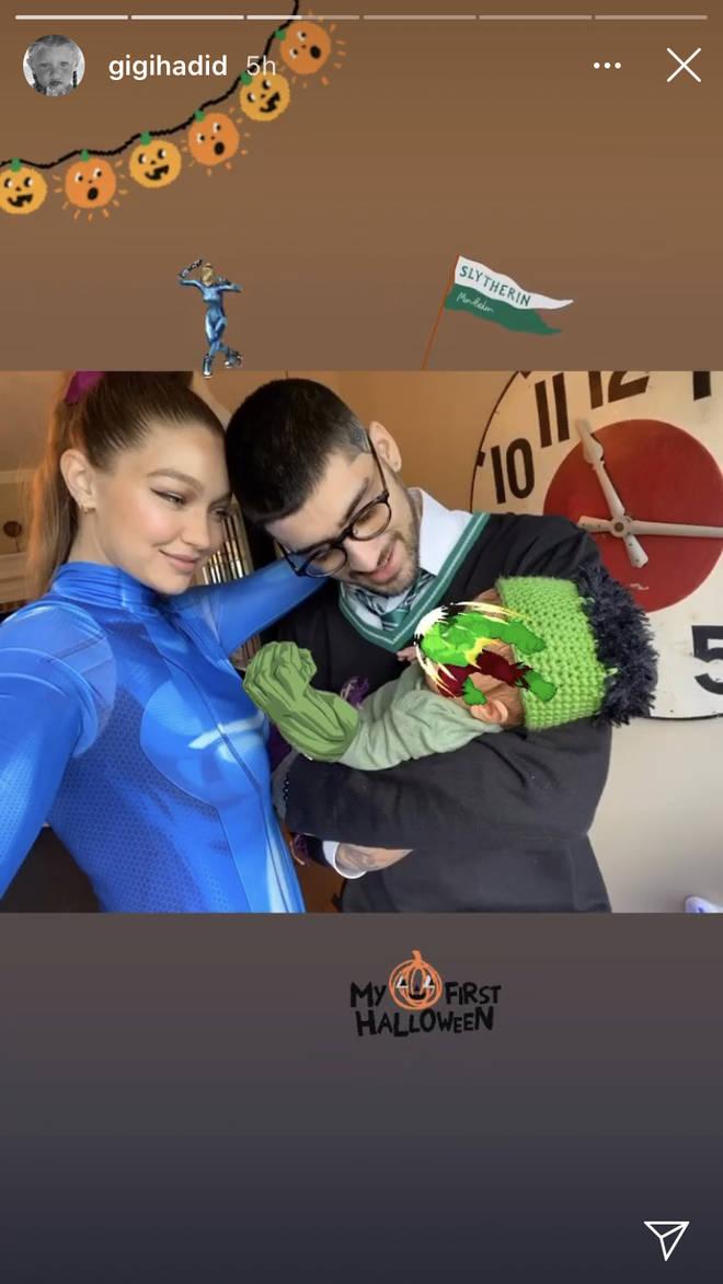 Gigi Hadid and Zayn Malik dressed their baby as the Hulk