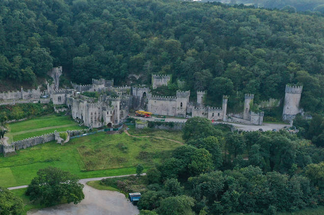 The celebrities will be staying at Gwrych Castle