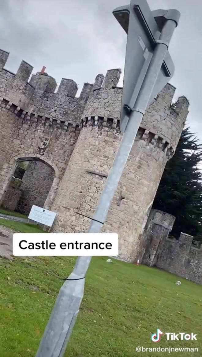 Welsh local reveals the Gwrych Castle entrance