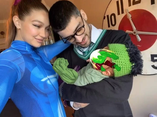 Zayn and Gigi dress up with daughter on Halloween
