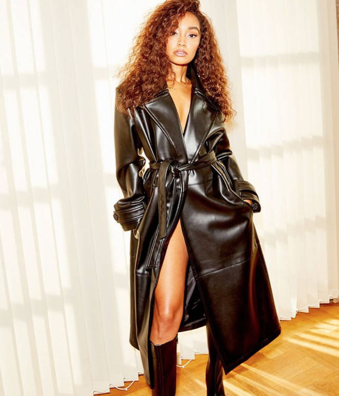 We need this long leather coat from Leigh-Anne's ASOS range