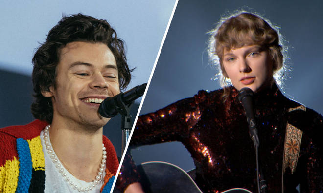 Harry Styles' cardigan is trending again it could be because of Taylor Swift