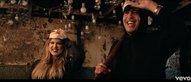Khloé Kardashian appeared in French Montana's music video for 'Don't Panic' in 2014