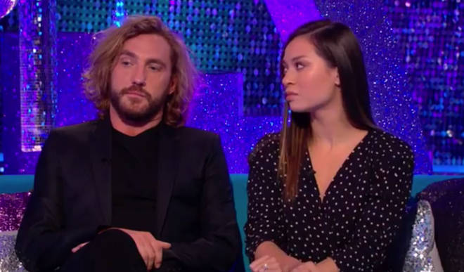 Seann Walsh and Katya Jones were caught kissing on video following a night out