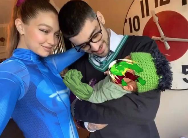 Gigi and Zayn dressed their baby girl as The Hulk