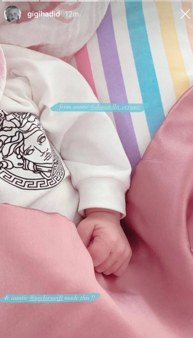 Taylor Swift sent a handmade blanket to Gigi Hadid's baby girl