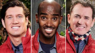 Vernon Kay, Mo Farah and Shane Richie are the tallest I'm A Celeb campmates.