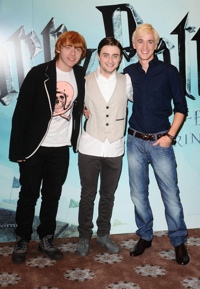 Daniel Radcliffe, Rupert Grint and Tom Felton starred in all 8 Harry Potter films together.
