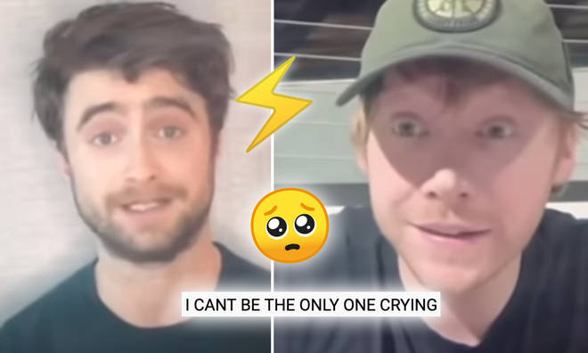 Daniel Radcliffe, Rupert Grint and Tom Felton reunited on Monday night.