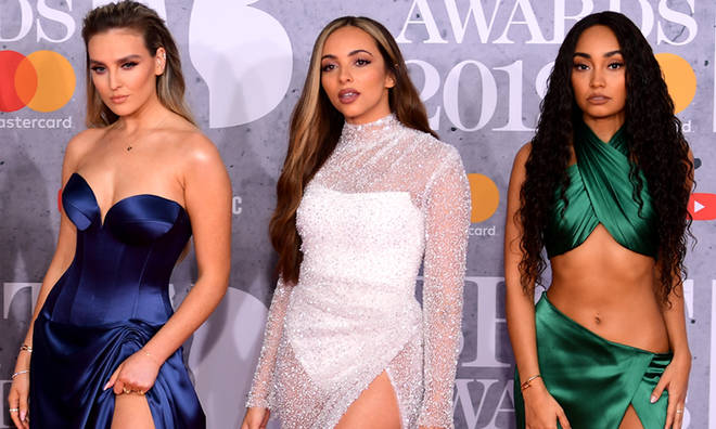 Little Mix's Perrie Edwards, Jade Thirlwall and Leigh-Anne Pinnock appeared without Jesy Nelson.