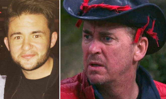 Shane Richie's son, Shane Nolan, has jumped to his defence after I'm A Celeb viewers branded him 'b****y'.