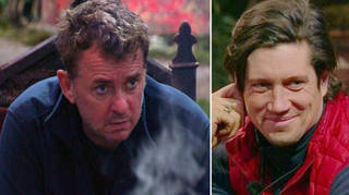 I'm A Celebrity fans think Shane Richie and Vernon Kay are wearing eye makeup on the show.