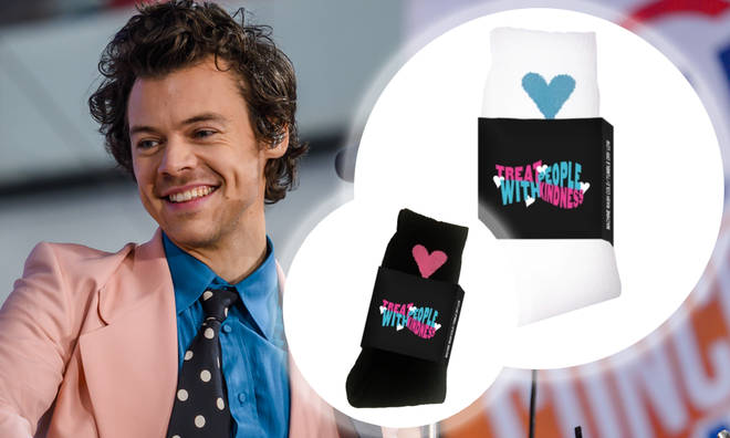 Harry Styles drops limited edition 'TPWK' socks to raise money for Choose Love