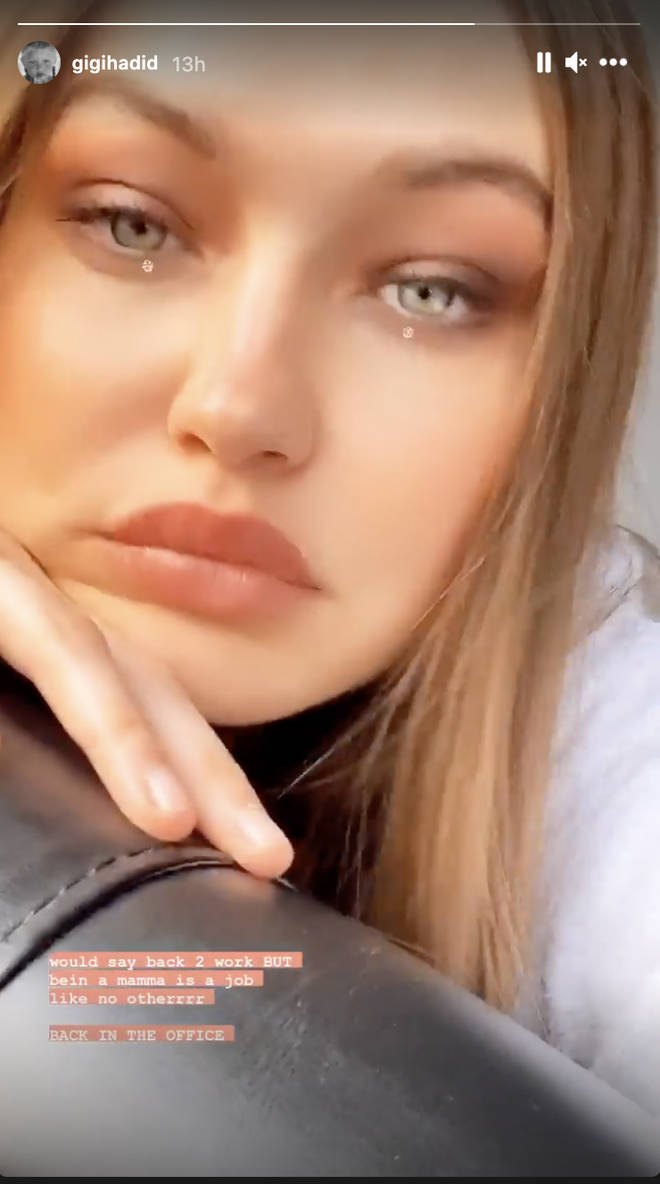 Gigi Hadid returns to work and says being a mother is harder
