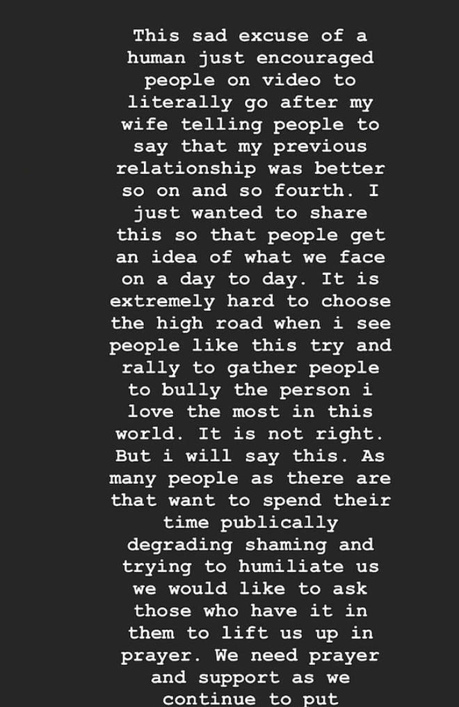 Justin lashed out at the troll on his Instagram Story.
