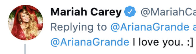 Mariah Carey let's Ariana Grande know the feelings are mutual
