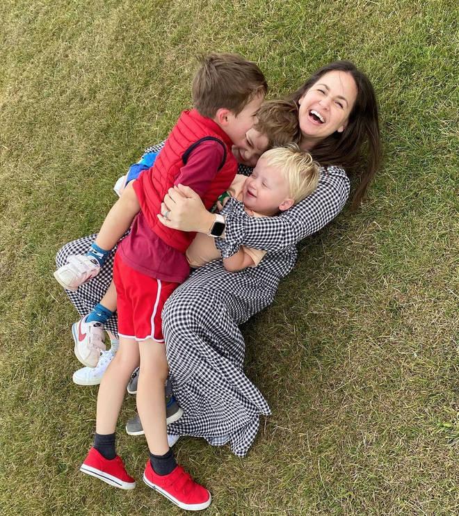 Giovanna shares three children with he husband Tom Fletcher.