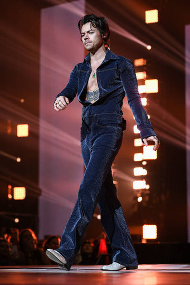 One year on and we can't get Harry's custom denim get-up out of our minds