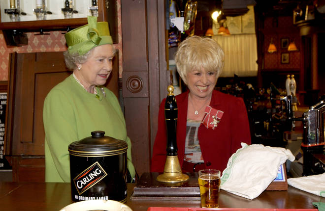 Barbara Windsor starred in EastEnders as Peggy Mitchell
