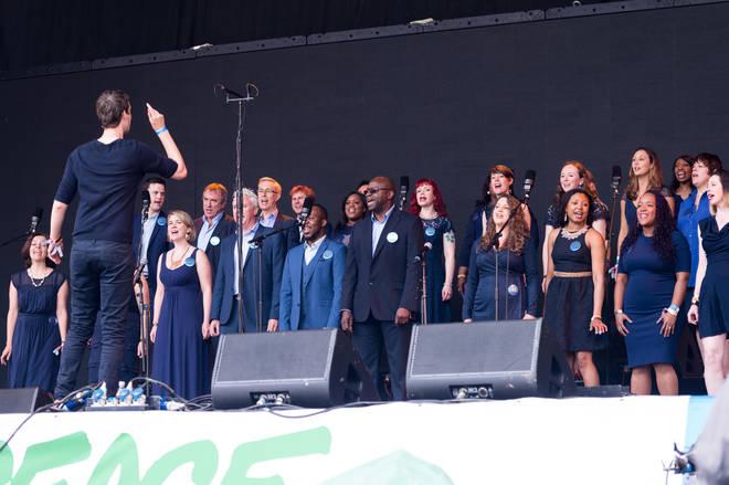 The Lewisham and Greenwich NHS Choir perform at Glastonbury Festival 2016
