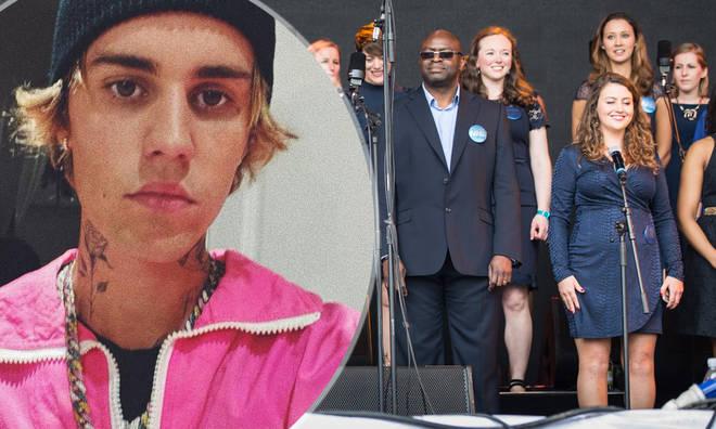 Justin Bieber teams up with NHS choir in bid for Christmas number 1