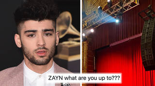 Zayn posts photo from inside a theatre in New York