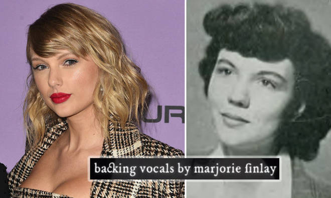 Taylor Swift's grandmother credited with backing vocals on 'Marjorie'