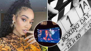 Leigh-Anne Pinnock photographed on the set of 'Boxing Day'