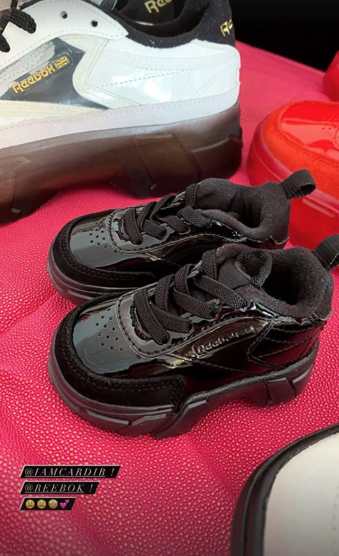 Gigi Hadid's baby was sent some tiny Reebok trainers