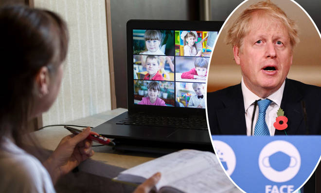 Boris Johnson confirmed some schools will have to stay shut a little longer in January
