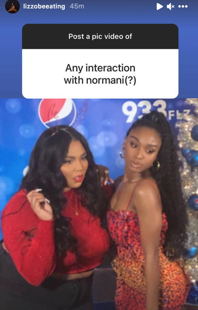 Lizzo fans also asked to see a pic with Normani