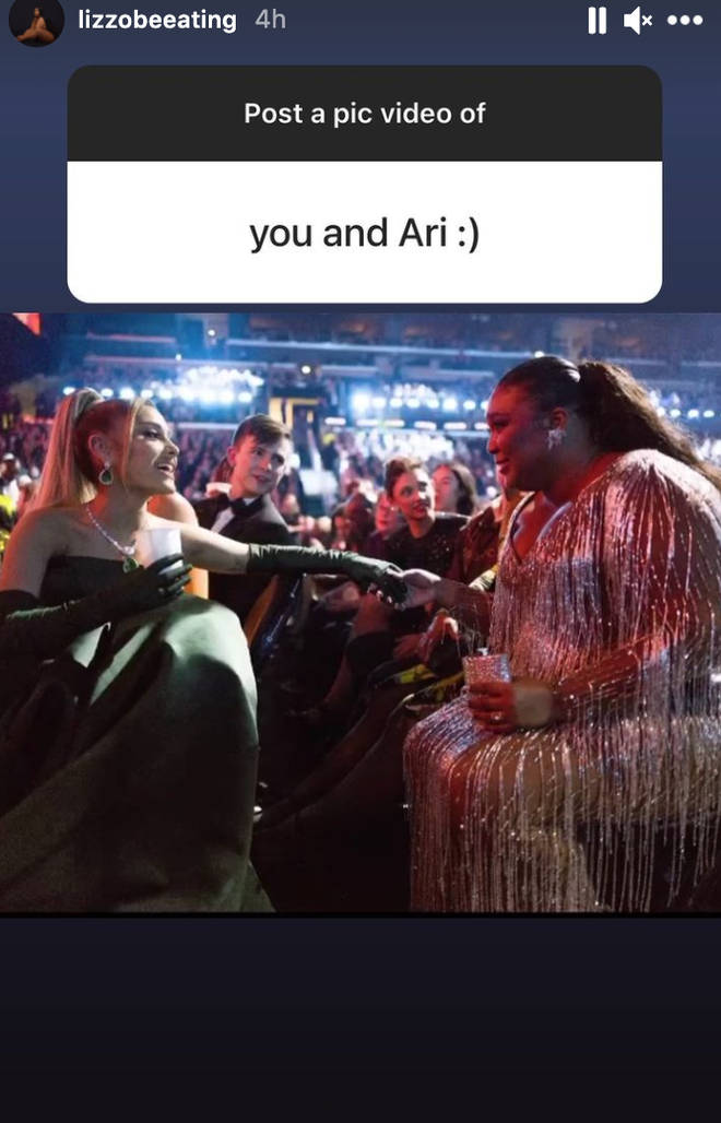 Lizzo's picture with Ariana Grande was so wholesome