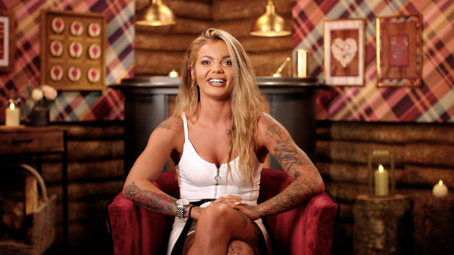 Tattooed beauty Sarah will be part of a same-sex couple on The Cabins