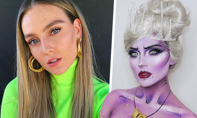 Perrie Edwards' Halloween Makeup Transformation Into Disney