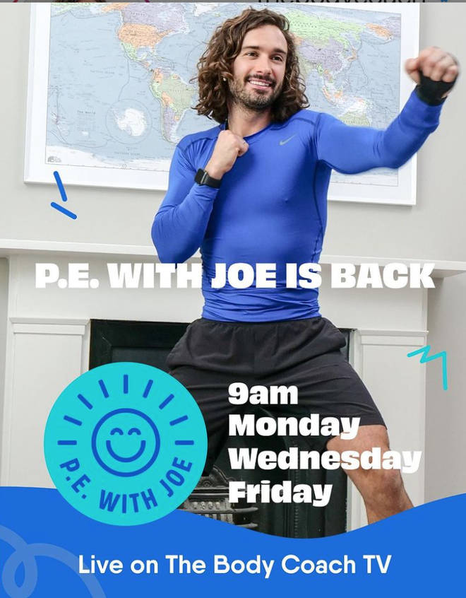 Which Days Is P.E. With Joe Wicks And How Can You Watch ...