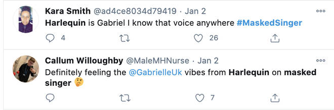 Viewers suspect singer Gabrielle is Harlequin on The Masked Singer UK