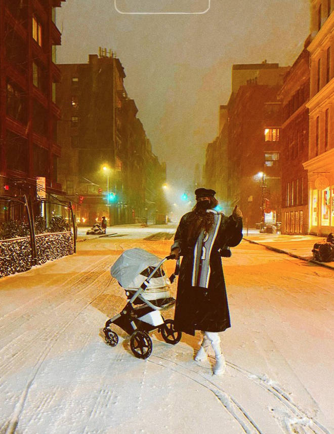 Gigi Hadid showed her baby her 'first snow'