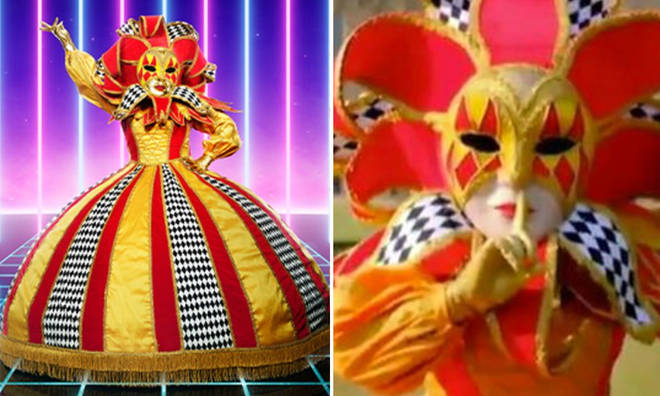 Viewers are speculating who Harlequin on 'The Masked Singer UK' is