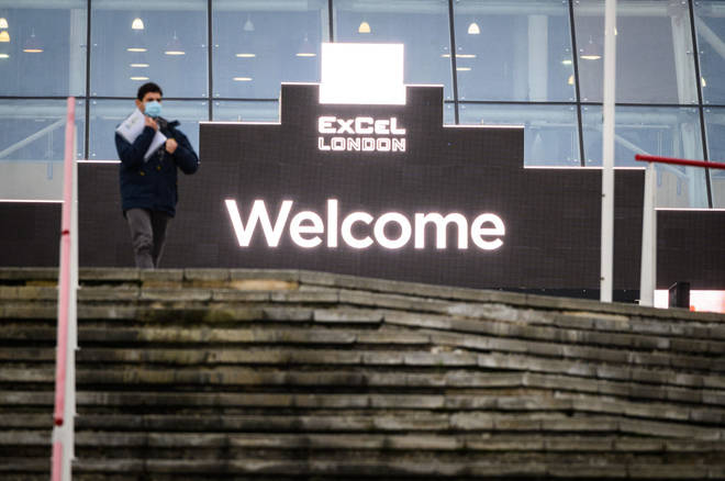 The ExCel in London will be used as part of the mass vaccination programme