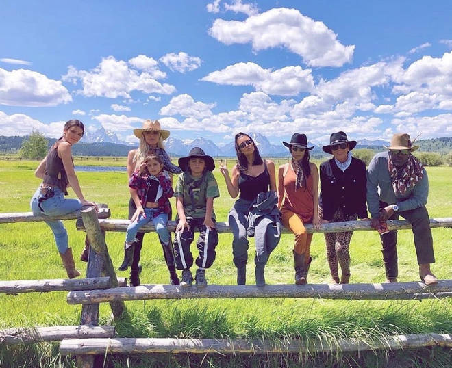 Kim Kardashian and her family have spent many mini breaks at the Wyoming ranch