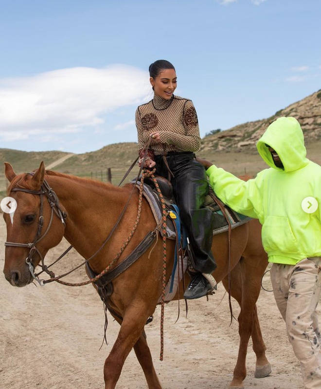 Kim and Kanye's ranch has cattle and horses