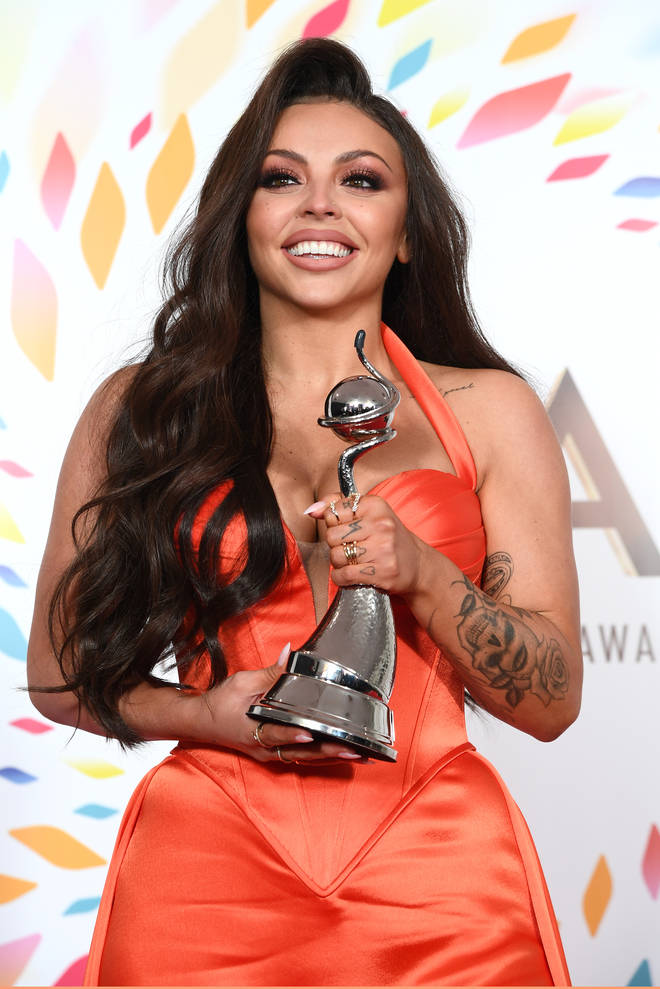 Jesy Nelson in the National Television Awards 2020 - Winners Room