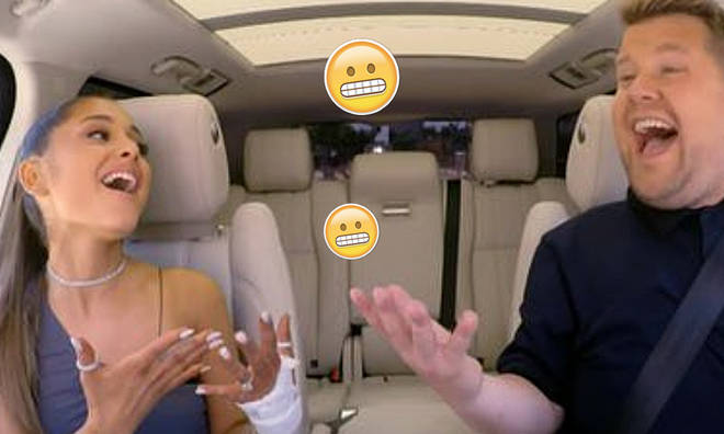 Ariana Grande sings carpool Karoke with James Corden
