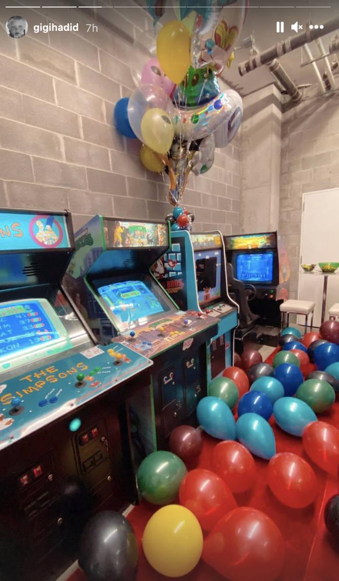 Gigi Hadid organised an arcade themed bash for Zayn