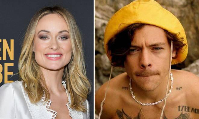 Olivia Wilde was seen wearing Harry Styles' pearl necklace