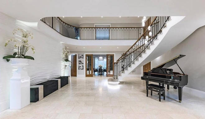 Leigh-Anne and Andre's home has a stunning entry way