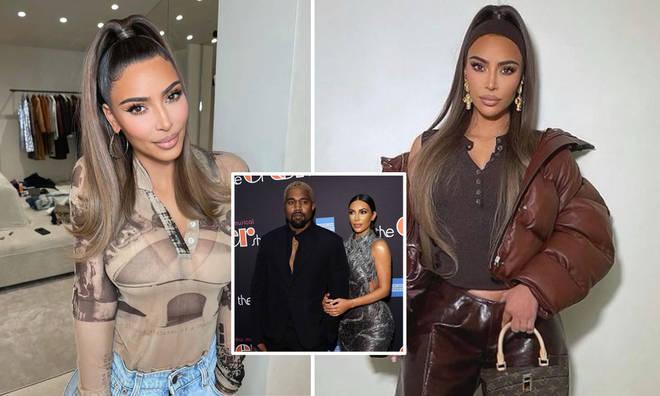 Kim Kardashian seems to have removed her wedding ring