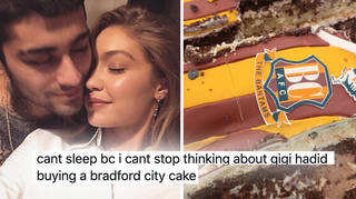 Gigi Hadid buying Zayn Malik a Bradford City cake is blowing peoples' minds.