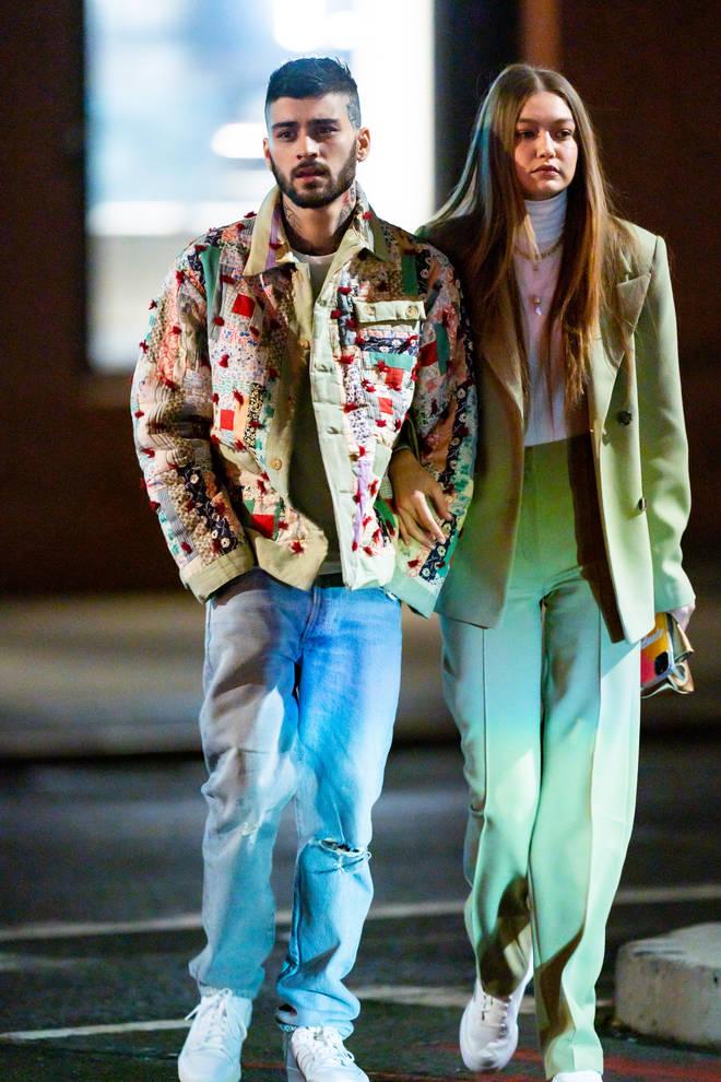 Zayn wears a Bode jacket on Valentine's Day 2020 with Gigi Hadid