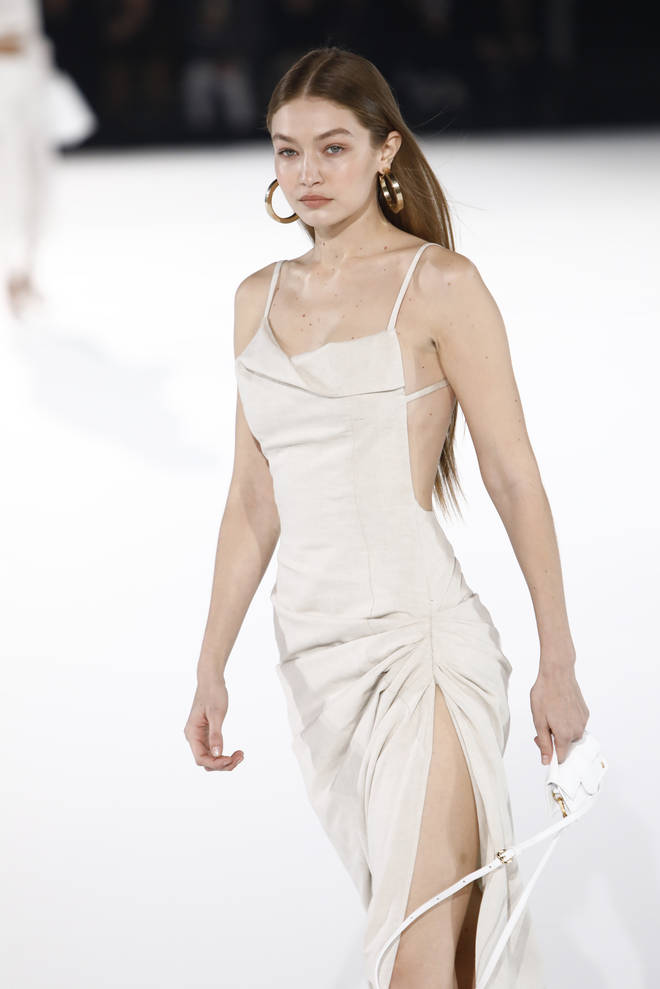 Gigi Hadid had just discovered she was pregnant at the Jacquemus show in 2020